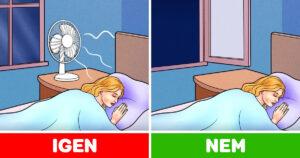 Ventilátorral alvás probléma