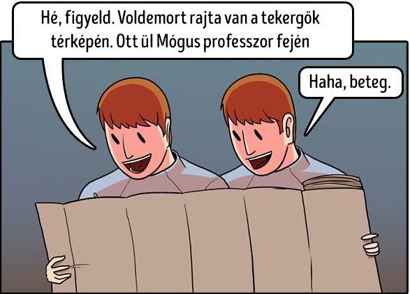 Voldemort mogus professzor fejen