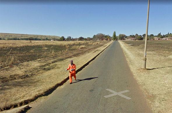 google maps street view south africa man 1119345