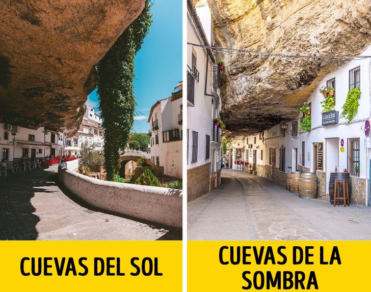 Spanyol város a szikla alatt