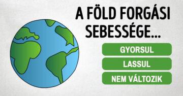Föld forgási sebessége