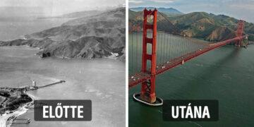 Híres építmények előtt és után
