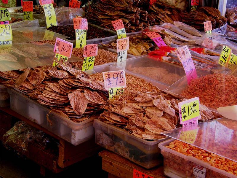 Kínai ételek piac