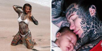 Tetovált nő tetoválásai