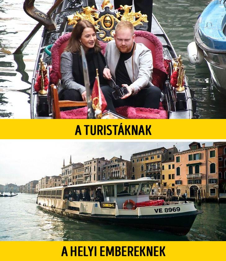 Turisták helyiek