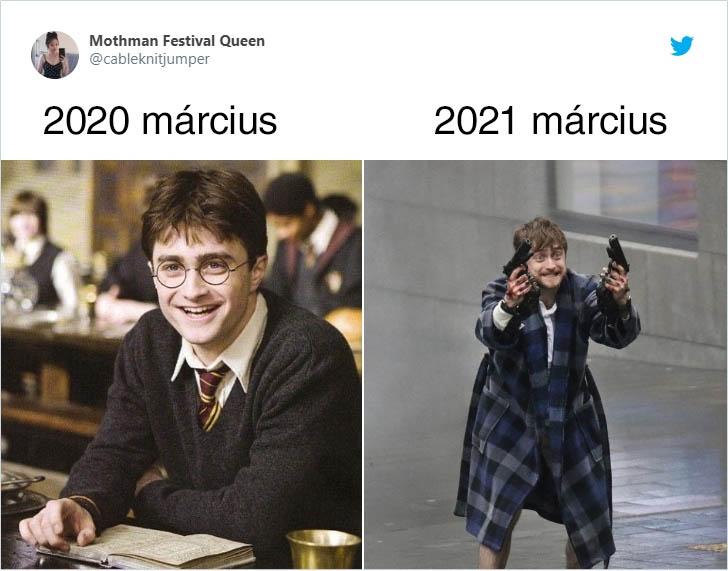 Harry potter március