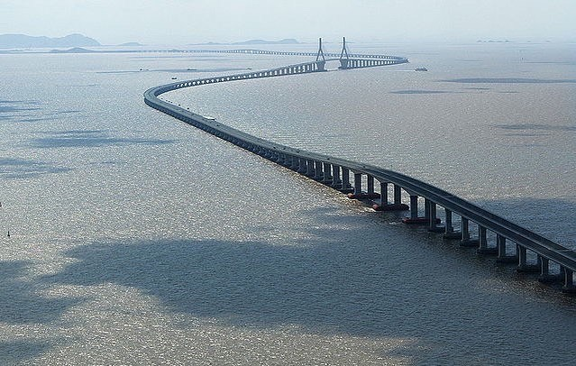 Danyang Kunshan viadukt leghosszabb híd