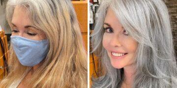 Ősz hajú természetes nők