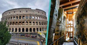 Római colosseum föld alatti része