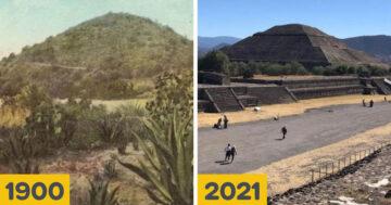 Történelmi helyek régen és most