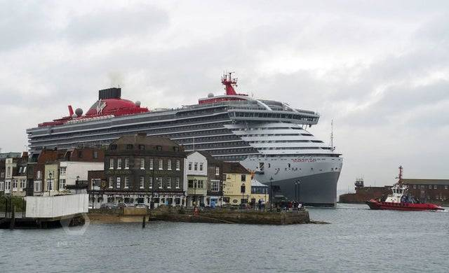 1624950515 virgin voyages luxury cruise ship scarlet lady arrives into portsmouth for the first time