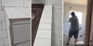 Fürdőszobát szétverő vállalkozó