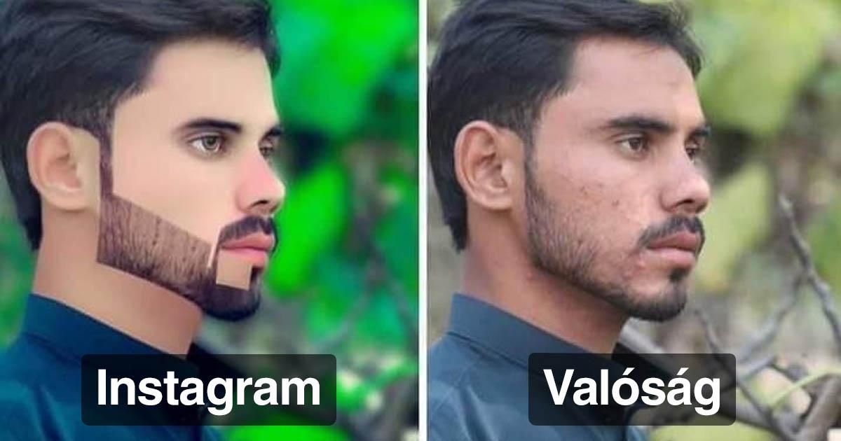 Instagram vs valóság fotók