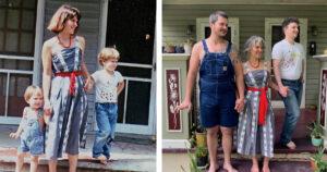 Újrakészített családi fotók