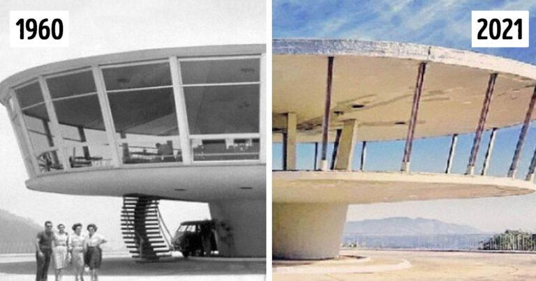 Hogyan változtatja meg az idő az épületeket és városokat: 15 fotó