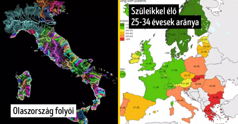 16 érdekes térkép, ami megváltoztatja a nézeted a világ néhány dolgával kapcsolatban