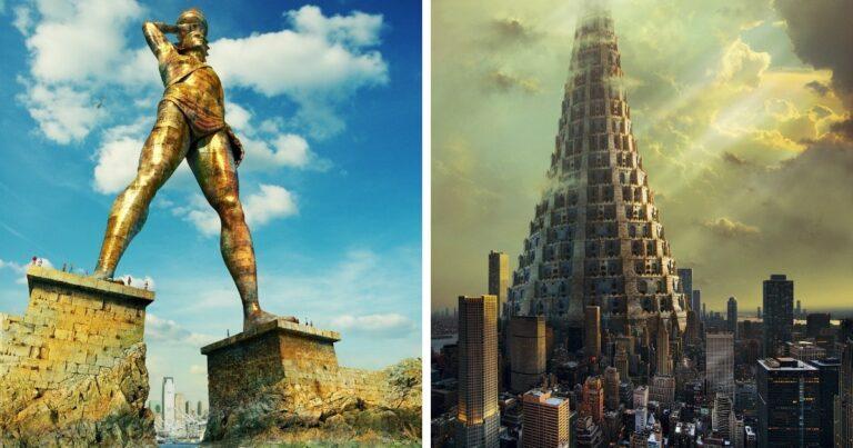 Hogyan néznének ki a történelem legősibb épületei, ha az eredeti formájukban maradtak volna fenn a 21. századig?