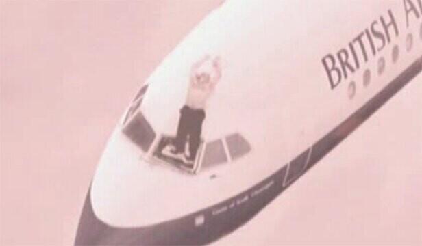 Repülőgép törött ablak