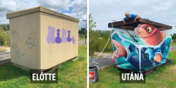 Utcaművész graffitik