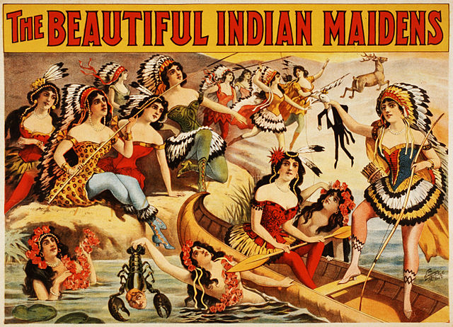 the beautiful indian maidens wild west show